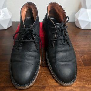 Frye Men's Black Leather Chukka Boots